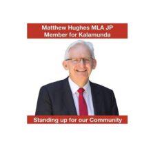 Gold sponsor Matthew Hughes MLA